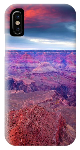 Sunset iPhone Case - Red Rock Dusk by Mike  Dawson