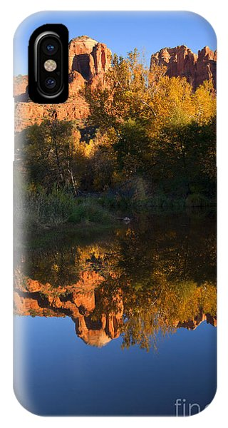Cathedral Rock iPhone Case - Red Rock Reflections by Mike  Dawson