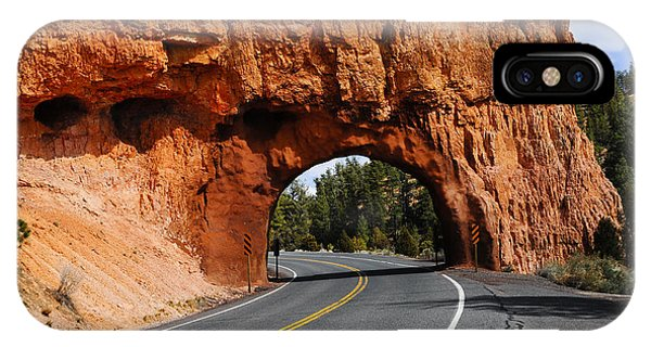 IPhone Case featuring the photograph Red Rock Tunnel by Don and Bonnie Fink