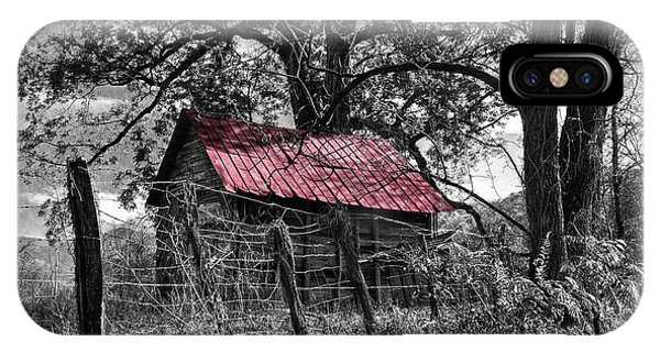 Nc iPhone Case - Red Roof by Debra and Dave Vanderlaan