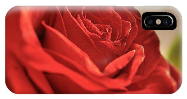 Red Rose Closeup IPhone Case