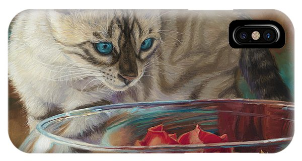 Indoors iPhone Case - Red Rose by Lucie Bilodeau