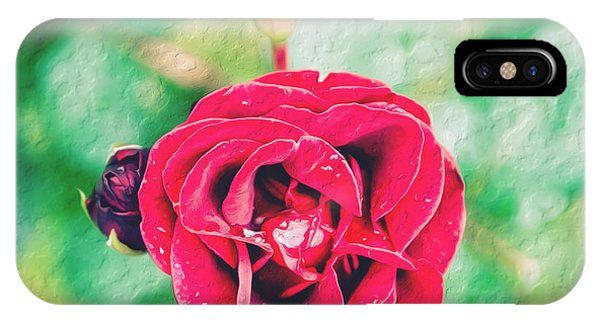 IPhone Case featuring the photograph Red Rose by Yew Kwang