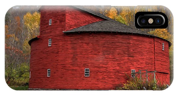 Red Round Barn IPhone Case