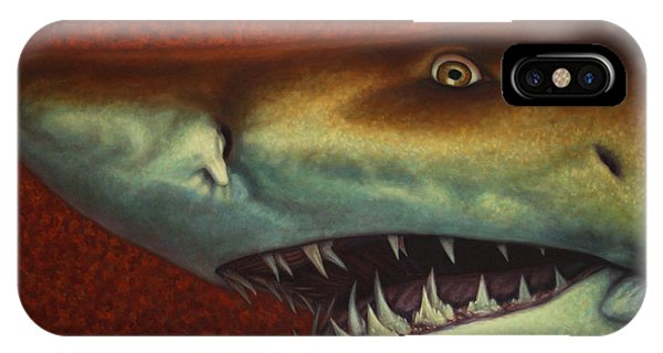 Sharks iPhone Case - Red Sea Shark by James W Johnson