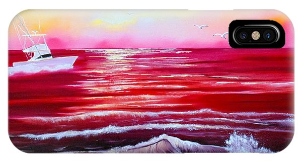 Red Seas IPhone Case