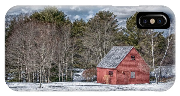 Red Shed In Maine IPhone Case