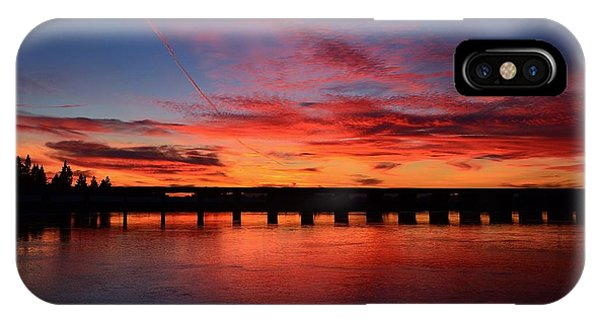 Red Shine Sunset IPhone Case