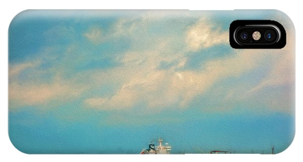 Red Ship In Oils IPhone Case