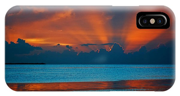 Tropical Florida Keys Red Sky At Night IPhone Case
