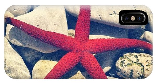 Colorful iPhone Case - Red Star! by Emanuela Carratoni