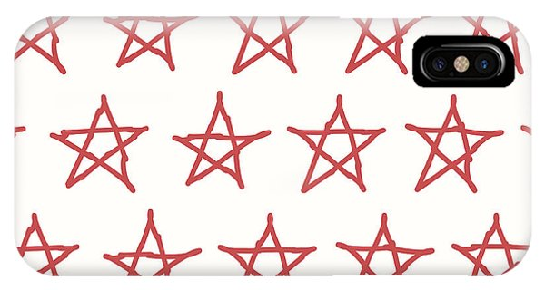 Clothing iPhone Case - Red Stars Vector Textile Backdrop. Can by Flas100