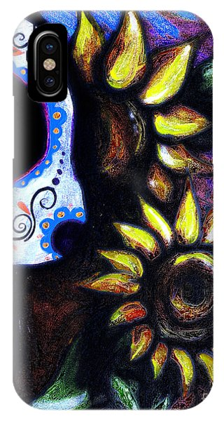 Midnite iPhone Case - Red Sunflower Skull by Lovejoy Creations
