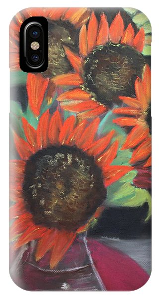 Red Sunflowers IPhone Case