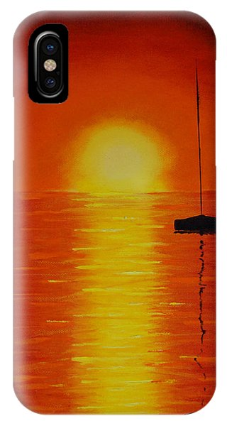 Red Sunset 1 Phone Case by Tina Stoffel
