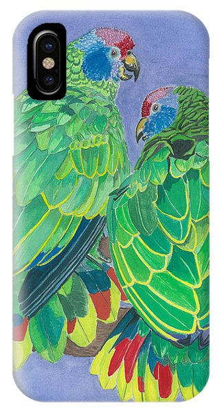 Red Tailed Amazon Parrots Phone Case by Anthony Purification