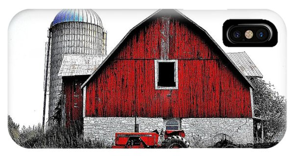 Red Tractor - Canada IPhone Case