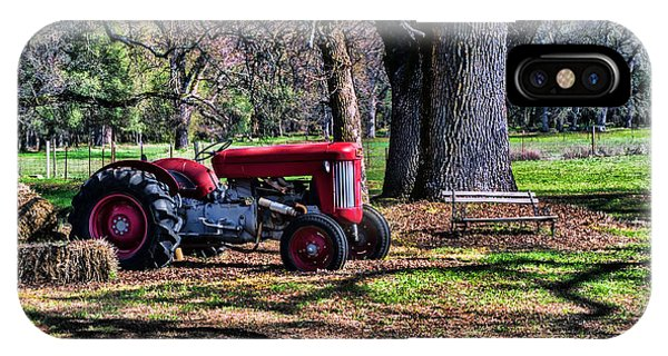 Red Tractor On The Farm IPhone Case