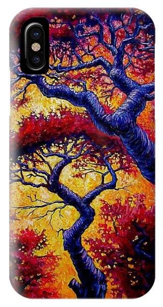 Red Trees Phone Case by Sebastian Pierre