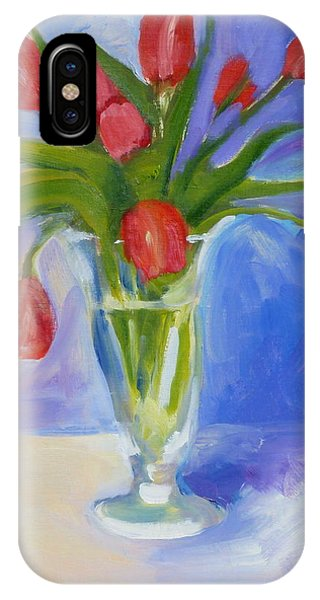 Red Tulips Phone Case by Valerie Lynch