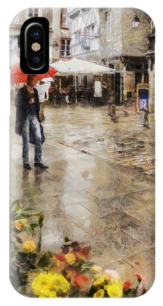 French Painter iPhone Case - Red Umbrella by Nigel R Bell