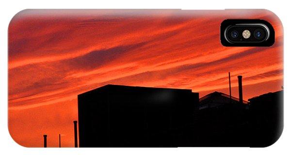 Red Urban Sky IPhone Case