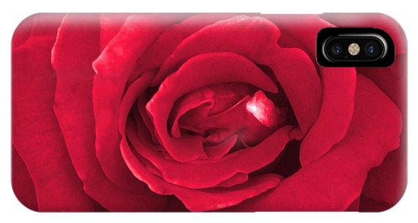 Red Velvet Rose IPhone Case