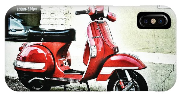 Red Vespa IPhone Case