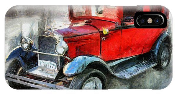 Red Vintage Car Drawing Drawing By Daliana Pacuraru
