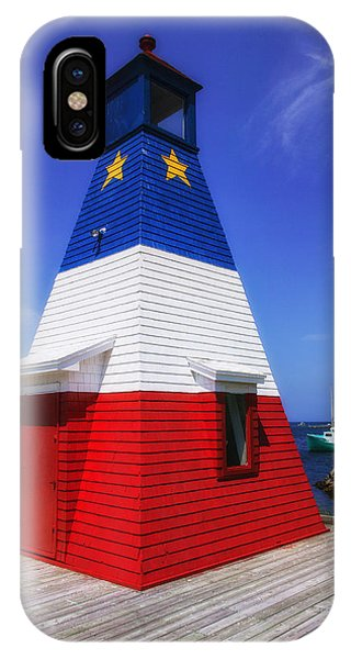 Patriotic iPhone Case - Red White And Blue Lighthouse by Garry Gay