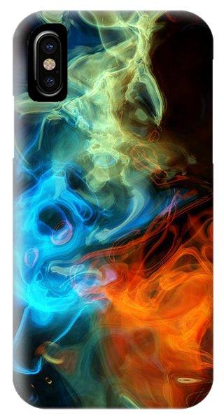 Red White And Blue Wispy Swirls IPhone Case
