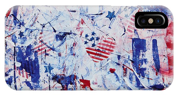 iPhone Case - Red White Blue Anthem by Julie Acquaviva Hayes