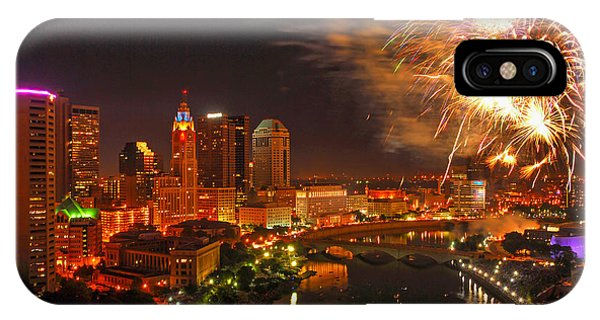 Red White And Boom Photo IPhone Case