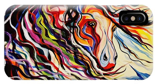 Red Wind Wild Horse IPhone Case