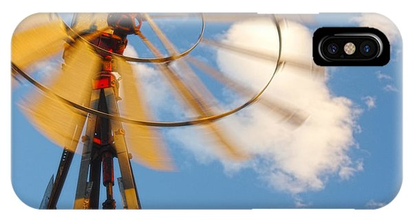 Red Wind Windmill IPhone Case