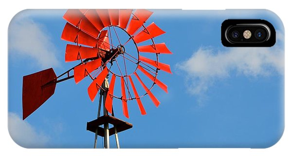 Red Windmill IPhone Case