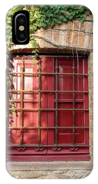 Red Window Phone Case by Carolyn Waissman