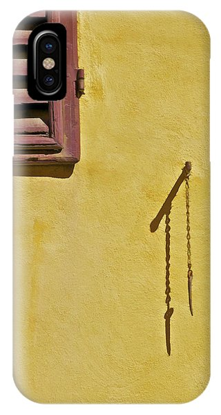 Red Window Shutter Of Tuscany IPhone Case