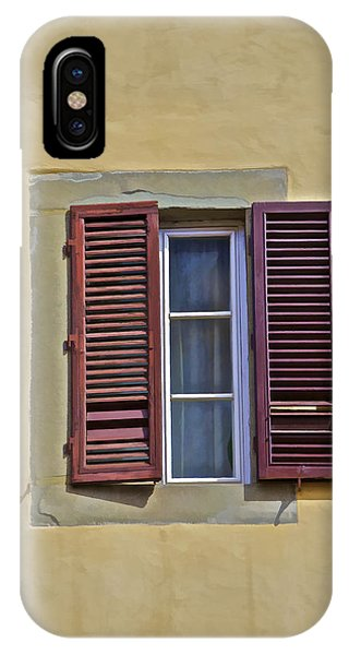 Red Window Shutters Of Florence IPhone Case
