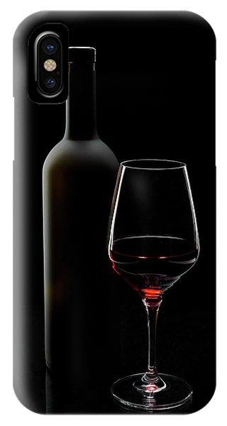 Wine Glass iPhone Case - Red Wine by Sergei Smirnov
