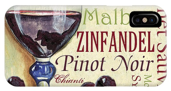 Beverage iPhone Case - Red Wine Text by Debbie DeWitt