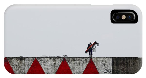 Fisherman iPhone Case - Red With Red by Roberto Parola