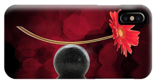 Red Zen Gerbera IPhone Case