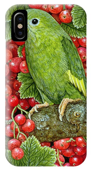 Redcurrant Parakeet IPhone Case