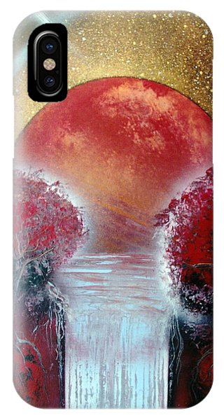 IPhone Case featuring the painting Redder by Jason Girard