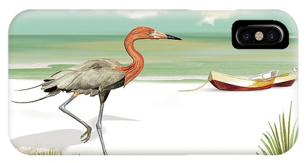 Reddish Egret IPhone Case
