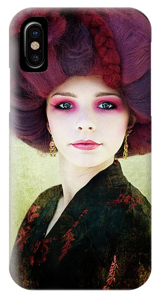 Faces iPhone Case - Redhead by Kenp