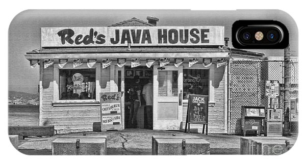 Red's Java House San Francisco By Diana Sainz IPhone Case