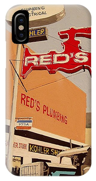 Reds Plumbing Phone Case by Paul Guyer