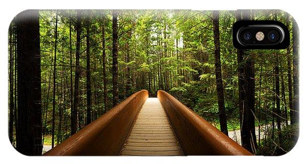Shrubs iPhone Case - Redwood Bridge by Chad Dutson